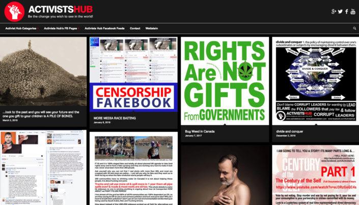 Activists Hub - WordPress Website Design
