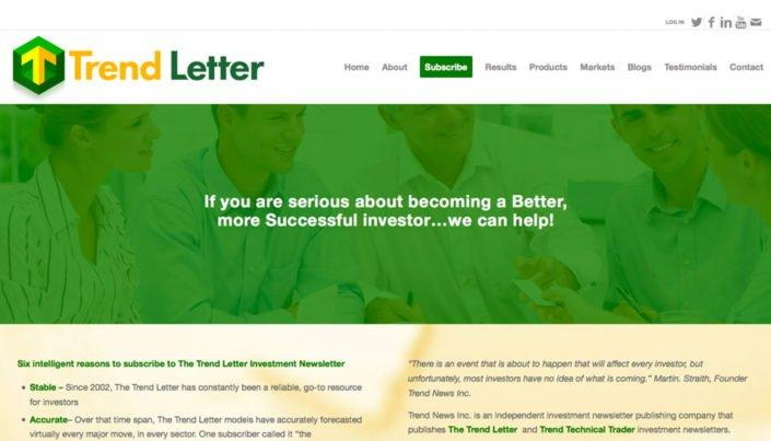 Trend Letter - WordPress Website Design