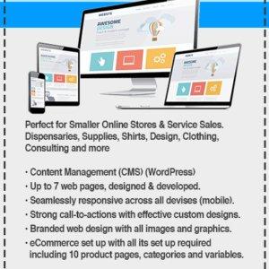 CARIBOO WordPress website Design SHOP+ BASICs Package